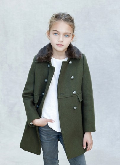 Le manteau officier Kid's Zara