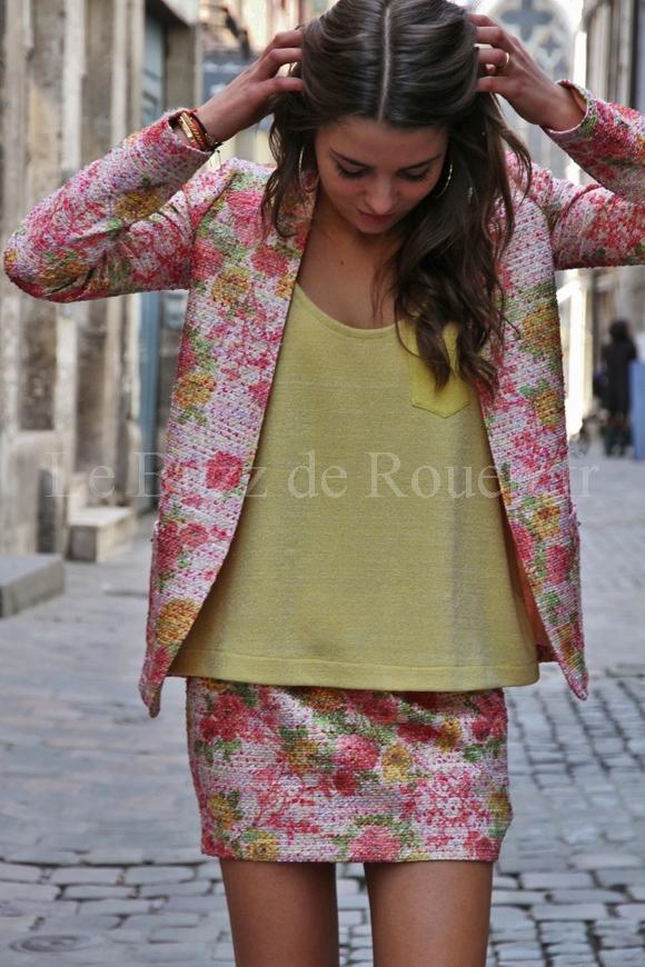 Veste Tailleur Femme A Fleur Vestes Elegantes