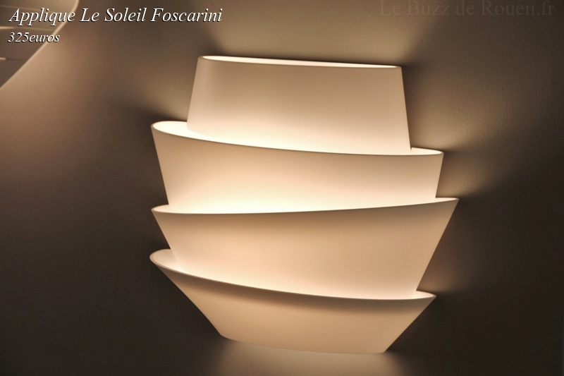 applique le soleil foscarini le buzz de rouen. Black Bedroom Furniture Sets. Home Design Ideas