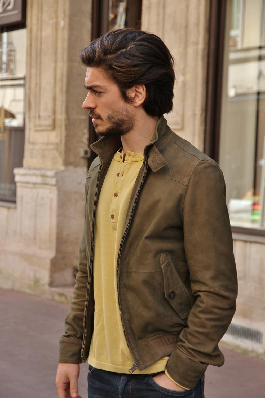 chemise cuir homme
