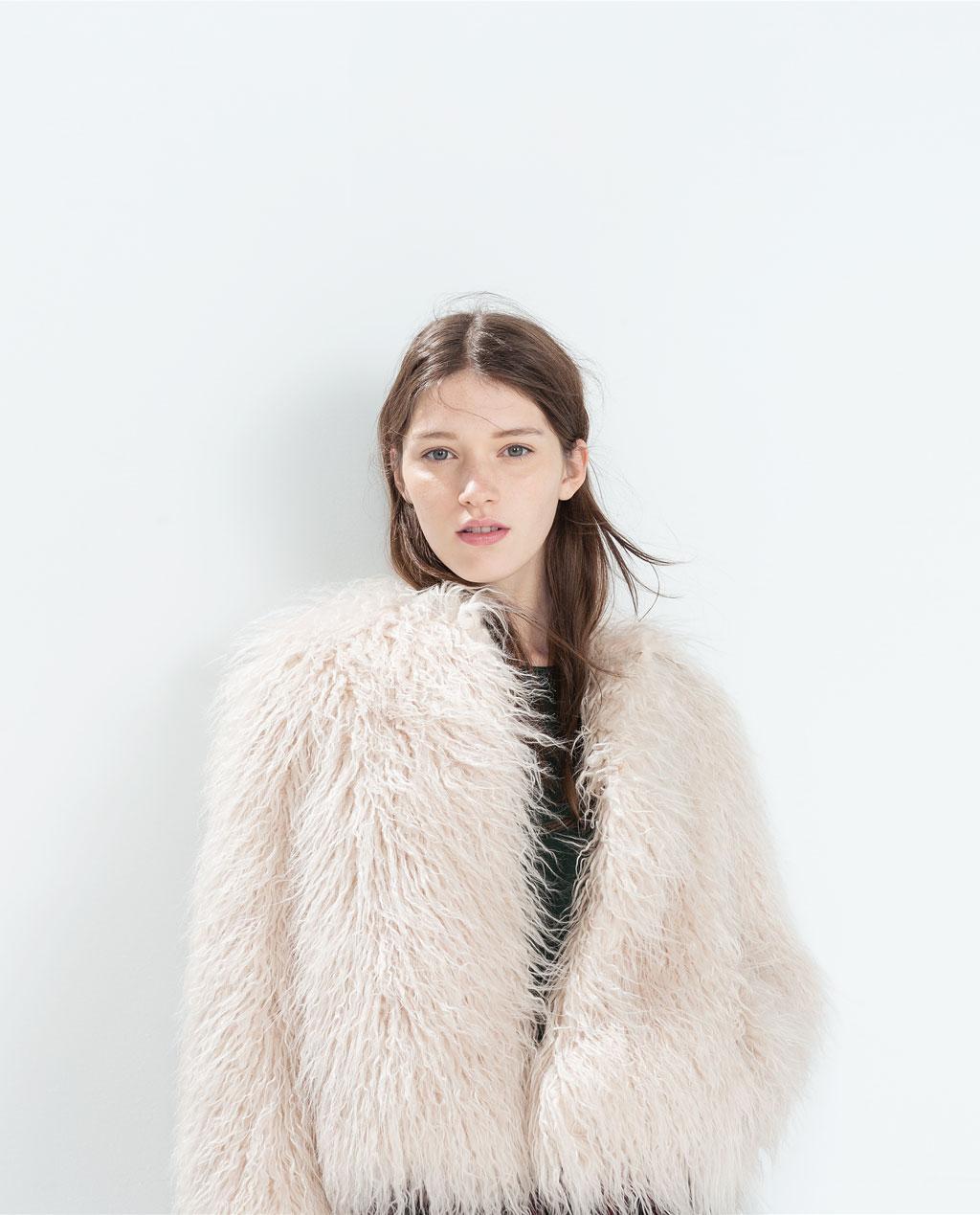 Manteau zara femme 2018 fourrure