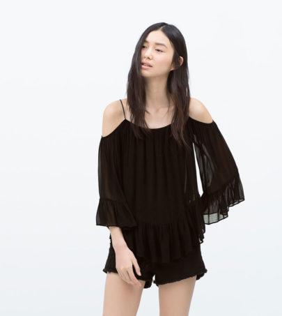 3 Tops noirs Zara