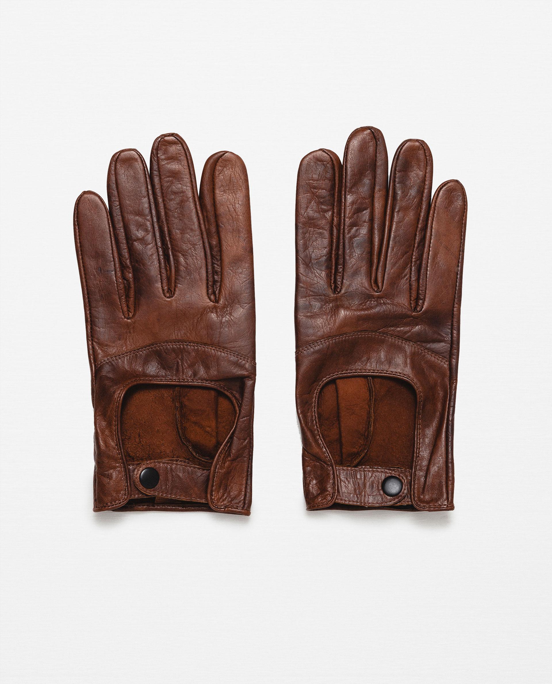 gants cuir homme zara 29 95 le buzz de rouen. Black Bedroom Furniture Sets. Home Design Ideas
