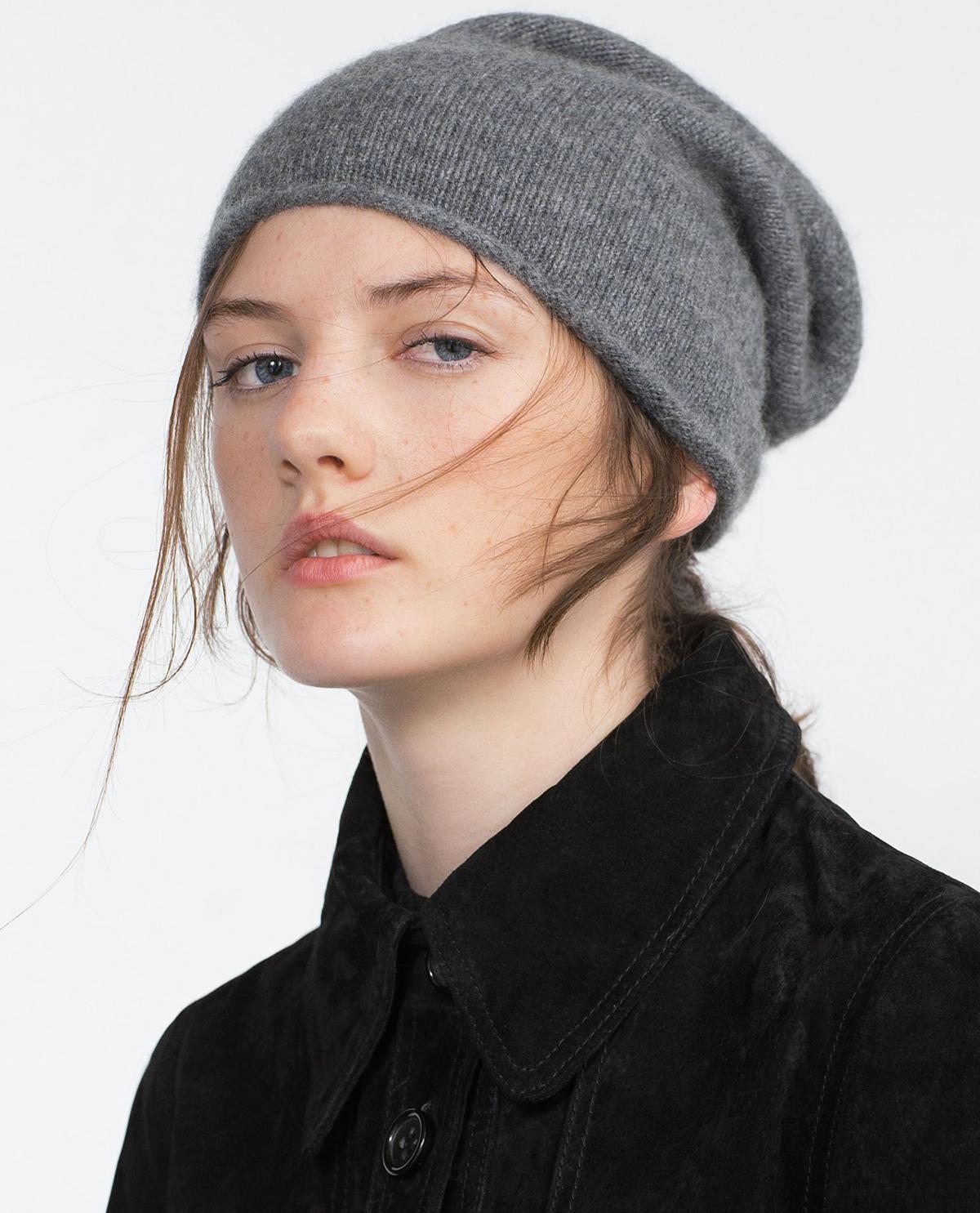 bonnet cachemire Zara 45,95