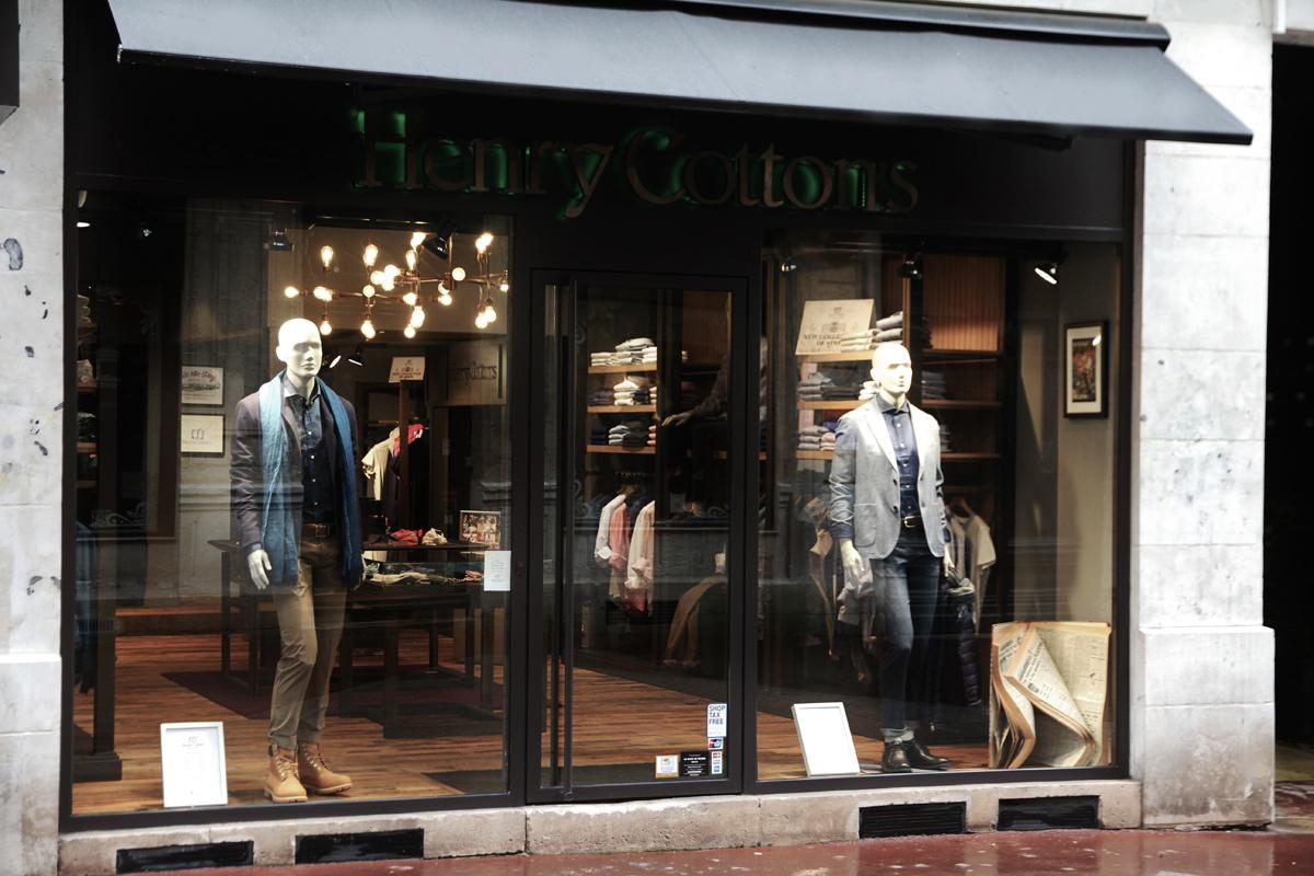 La boutique Henry Cotton's à Rouen