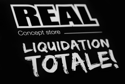Liquidation de la boutique Real