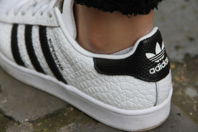 Cuir Bubble sur les Superstar