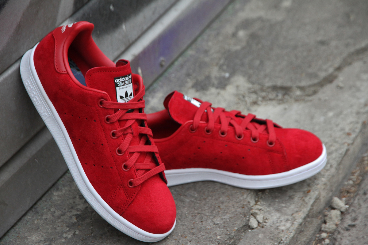 stan smith blanche et rouge homme