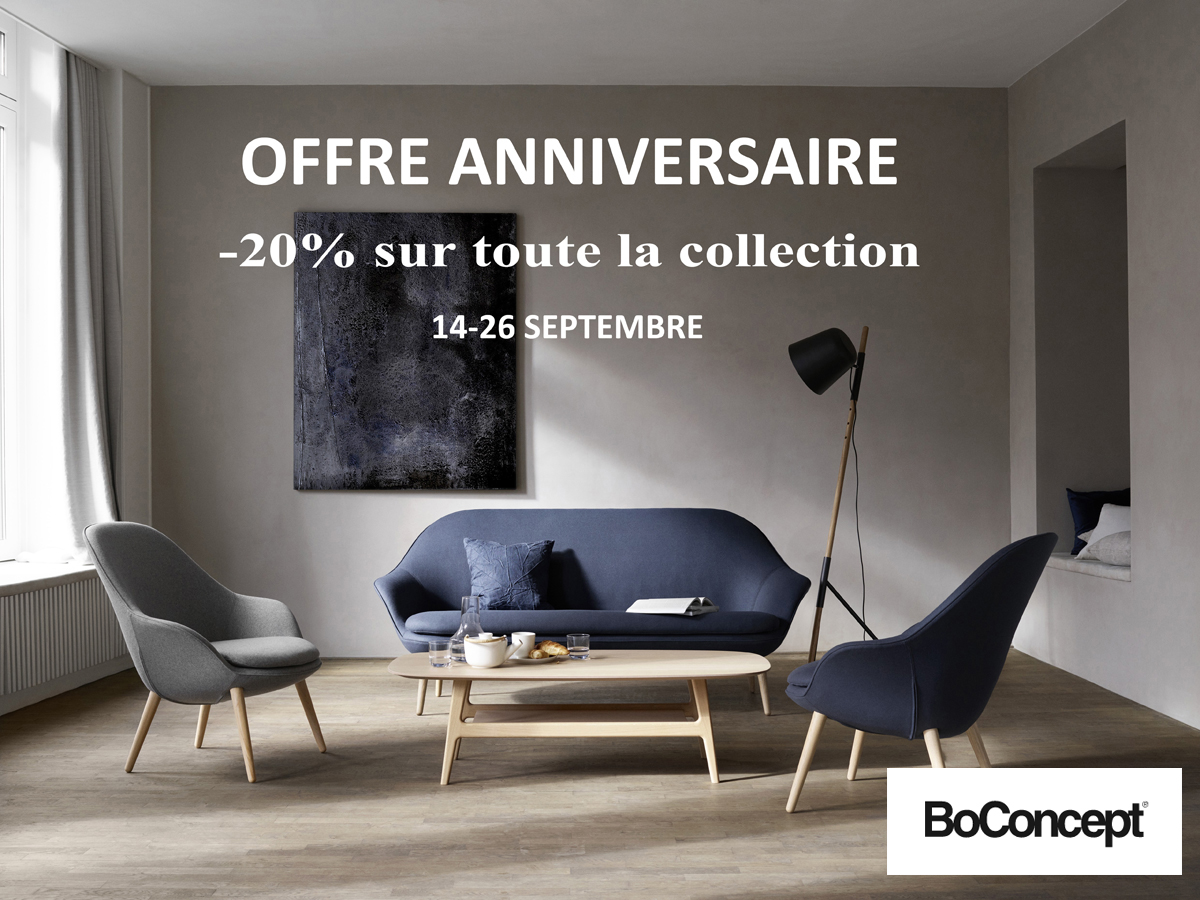 offre anniversaire boconcept le buzz de rouen. Black Bedroom Furniture Sets. Home Design Ideas