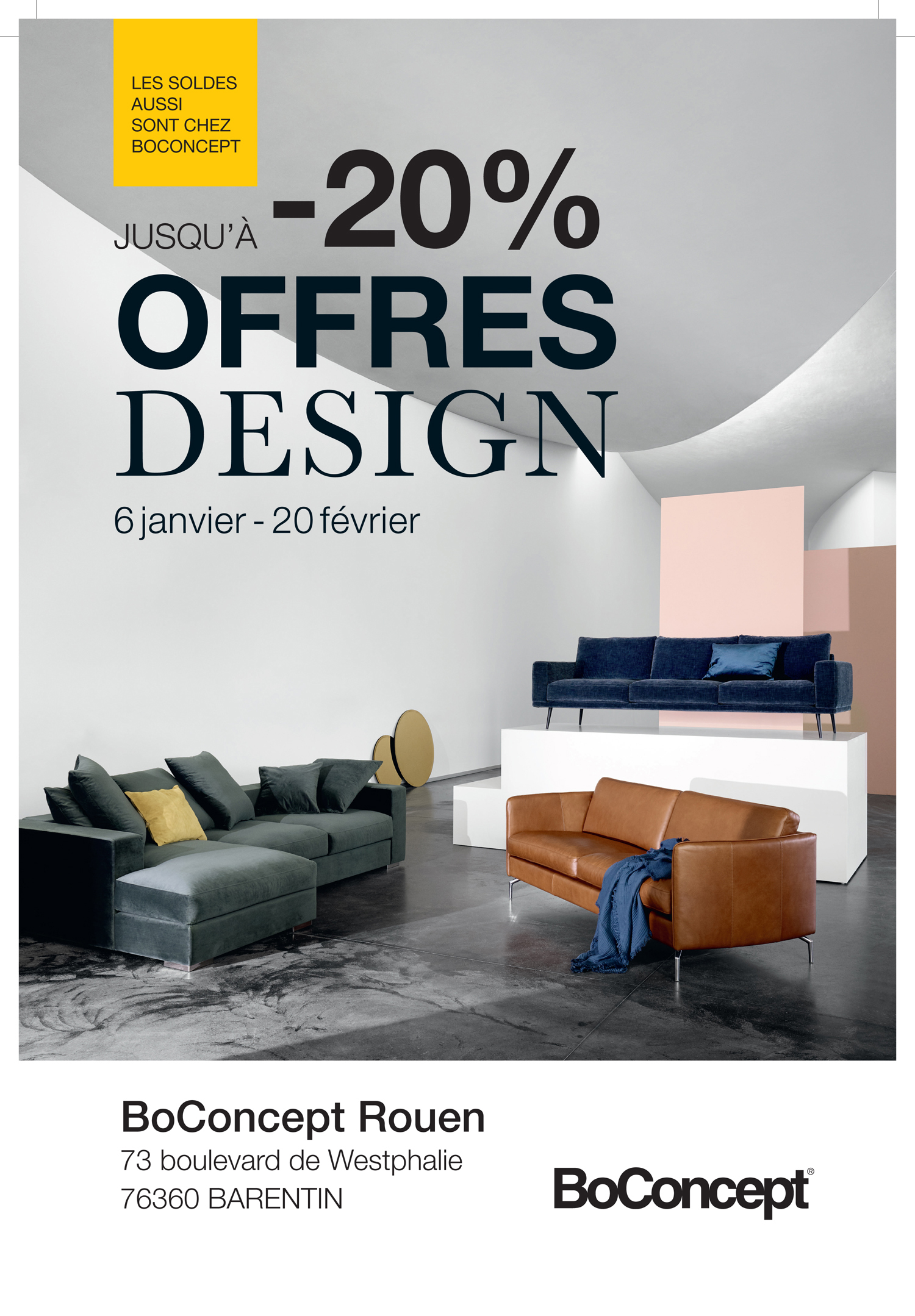 les offres design hiver 2018 chez boconcept le buzz de rouen. Black Bedroom Furniture Sets. Home Design Ideas