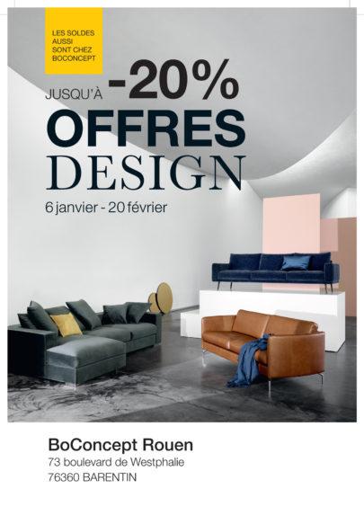 Les Offres Design Hiver 2018 chez BoConcept