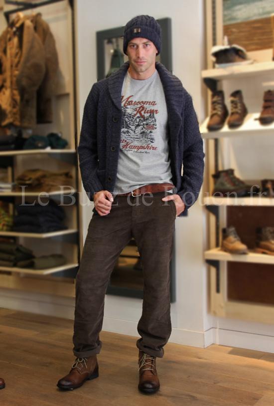 pantalon velour timberland homme