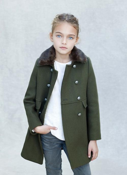 Le manteau officier Kid's Zara