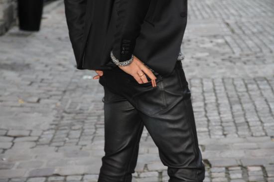 the kooples pantalon cuir homme