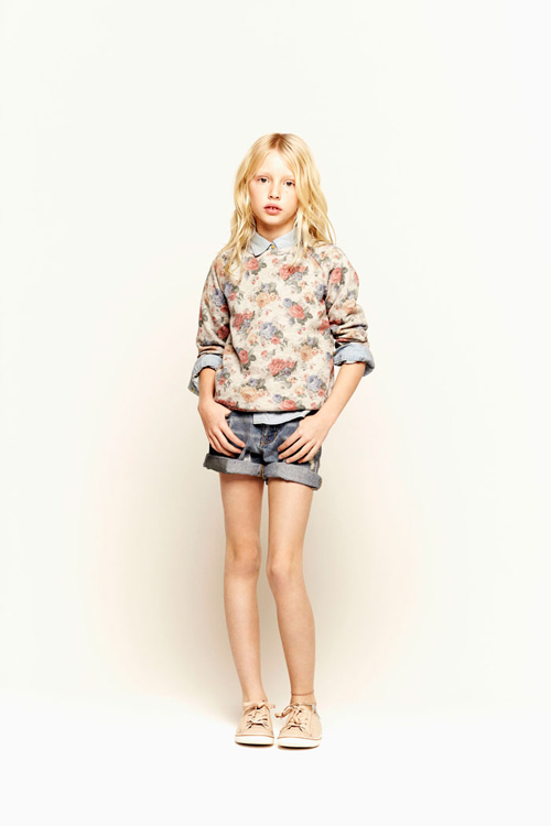 Fleurs vintage Zara Kid's